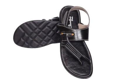 Lamha Crafts Men Black Sandals