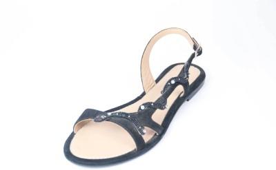Foonty Women Black Flats