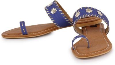 Naisha Women Blue Flats