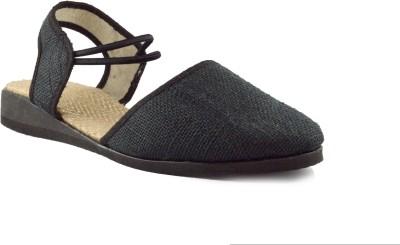 Kakolikrishti Girls Black Sandals