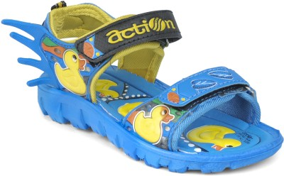Action Shoes KS-124 Boys, Girls Blue, Yellow Sandals