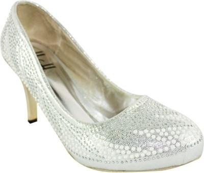 Heels & Handles Women Silver Heels