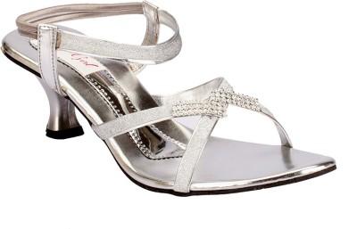 Party Girl Women Silver Heels