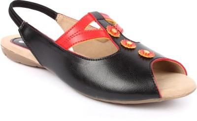 Jove Women Black Flats