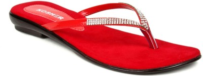 Kosher Klss028-Red Women Red Flats