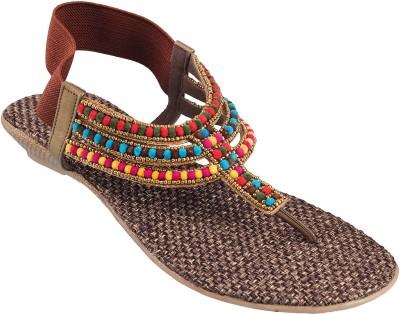 Mochi Women Brown Flats