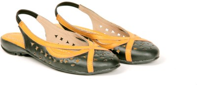 Twee Broer Women Black, Orange Flats