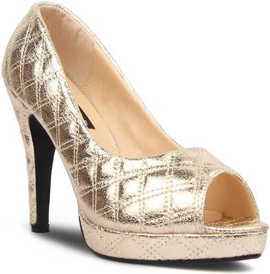 Kz Classics Women Gold Heels