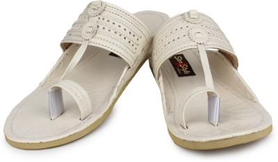 Star Style Men White Sandals