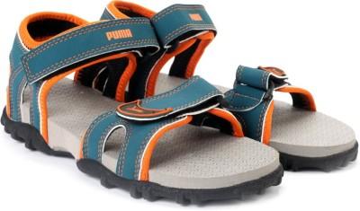 Puma Track Jr DP Boys, Girls Blue, Grey, Orange Sports Sandals