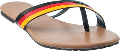 Cws Women Black, Red, Yellow Flats