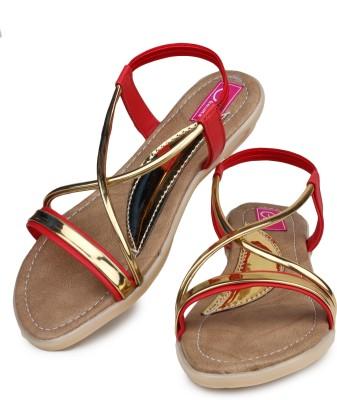 Geetika Women Red Flats