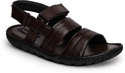 Feather Leather Men Brown Sandals