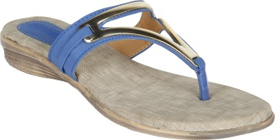 Niremo Blue Superior Synthetic Leather Women Blue Flats