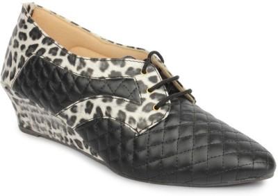 Sindhi Footwear Women Black Wedges