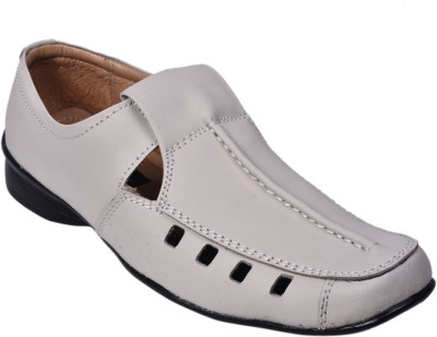 Knoos Men White Sandals