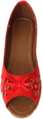 A La Mode Girls, Women Red Flats