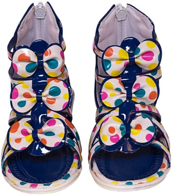 Parv Collections Baby Girls Blue Sandals