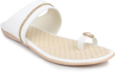 Bonzer Women White Flats