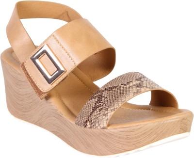 karizma shoes Women Beige Wedges