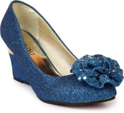 Darcey Women Blue Wedges
