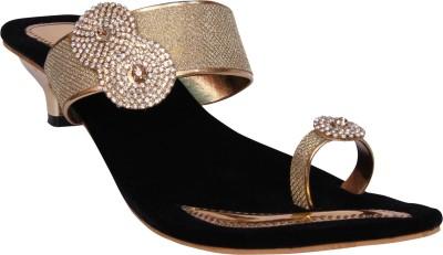 HannahTraders Women Gold Heels