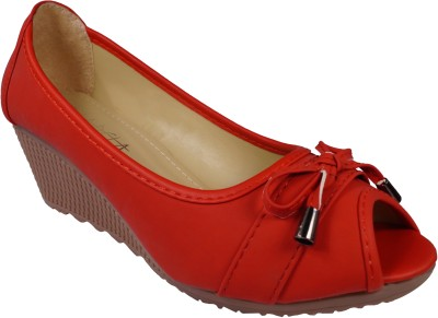 Ladela Women Red Wedges