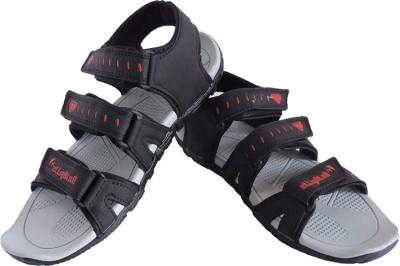 Elligator Men Black Sandals