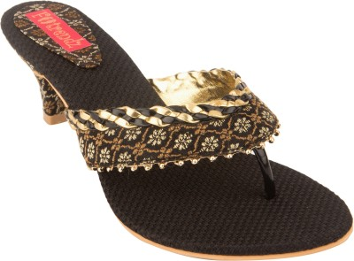 Footrendz Women Black Heels