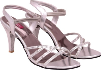 Femine Women Silver Heels
