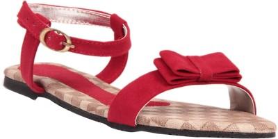 Lyc Women Red Flats
