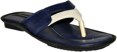 SSF Men White, Blue Sandals