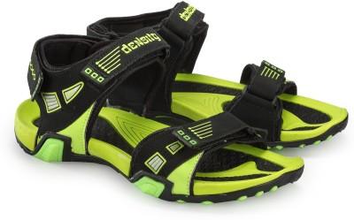 Corpus Men Black, Green Sandals