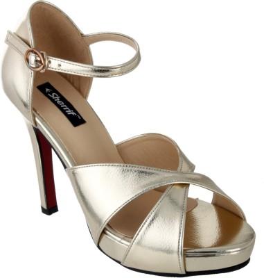 Sherrif Shoes Women GOLDEN Heels