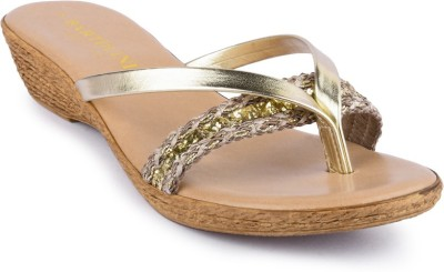 Bartolini Women Gold Wedges