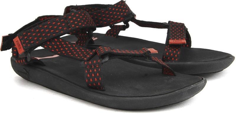 Puma Plato DP Women Black Red Sports Sandals