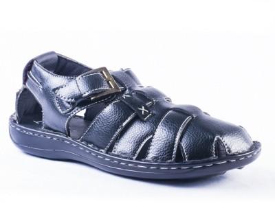 Tanny Shoes Tanny Shoes Black Leather Sandal Men Black Sandals