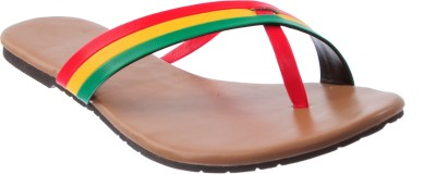 Cws Women Red, Yellow, Green Flats