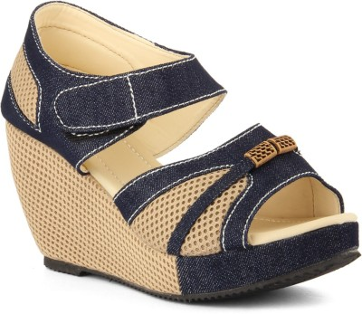Womens Club Women Blue Wedges