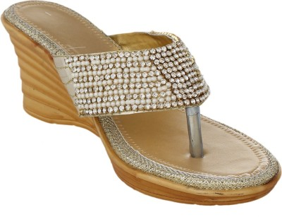 Bare Soles Women Gold Wedges