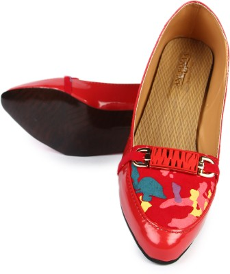 Anupamaa Red checked belly Girls Red Heels