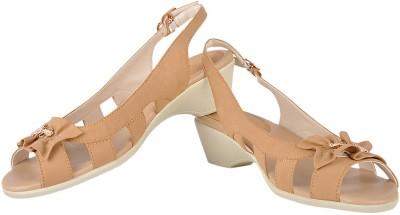 Bello Pede Strappy Women Beige Heels