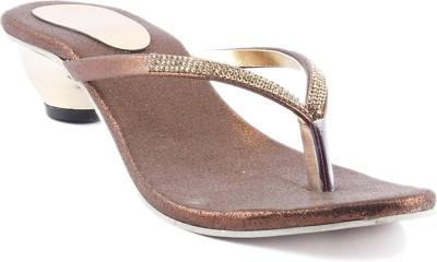 Foot Jewel Women Brown Heels