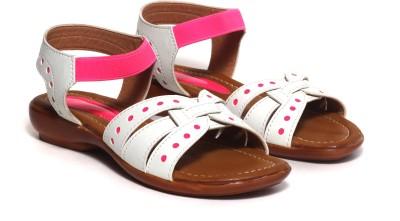 Craze Shop Baby Girls White, Pink Sandals