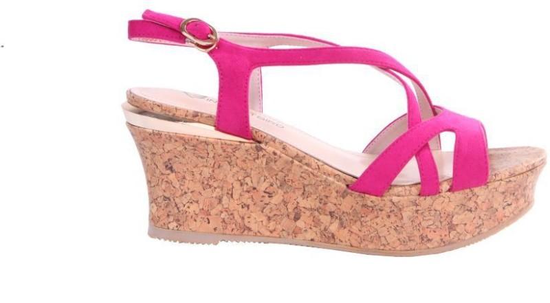 Soulier Carte Women Pink Wedges