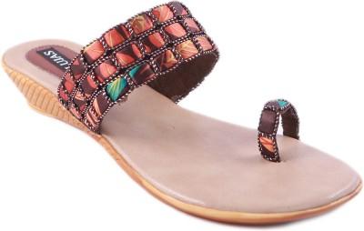 Balujas Women Brown Flats