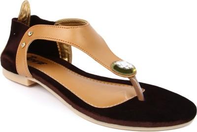 Jove Women Beige Flats