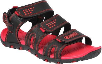 Dice Men Black, Red Sandals