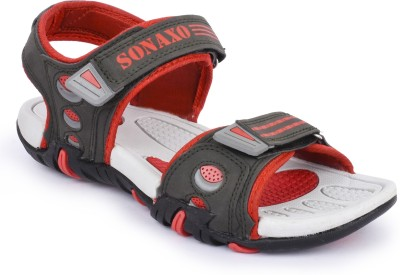 Sonaxo Men Grey Sandals