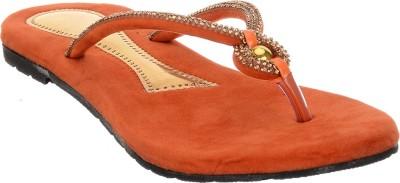 Brandvilla Women Orange Flats